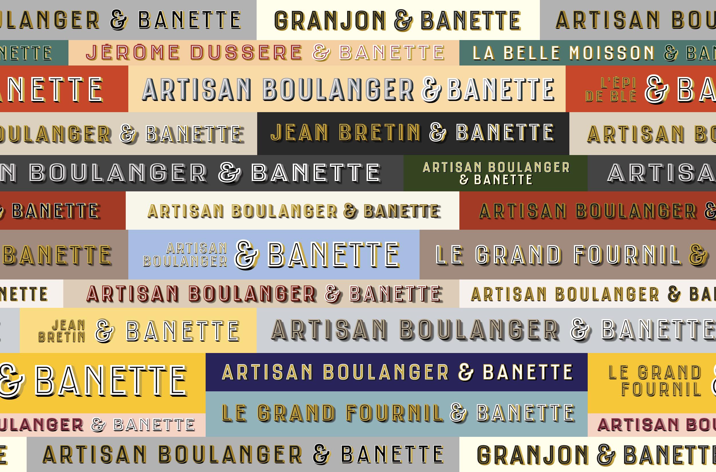 Jeu typographique Banette - 1