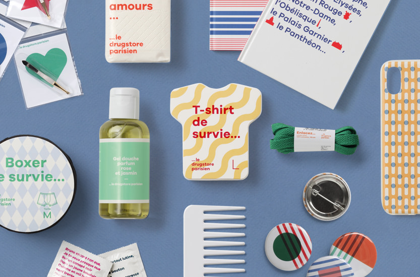 300 packagings à la marque Drugstore